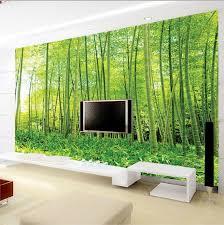 Living Room Wallpaper Scenery Online Get Cheap Bedroom Green Wallpaper Aliexpress Com Alibaba