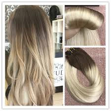 goldie locks clip in hair extensions 6a balayage brown to remy ombre clip in human hair