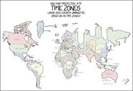 Map Of Time Zones by Xkcd Bad Map Projection Time Zones