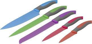 coloured kitchen knives set of 5 coloured kitchen knives various cutlery