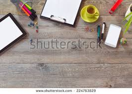 Smart Office Desk Office Desk Mock Template Table Smart Stock Photo 222994516