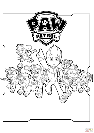 all paw patrol characters coloring page free printable coloring