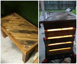 lighted patio table made out of wooden pallets 1001 pallets