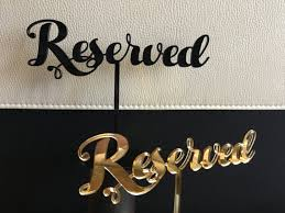 metal reserved table signs reserved table sign reserved seating reserved sign for