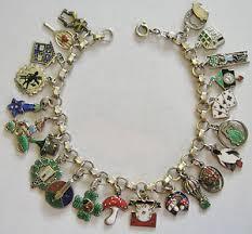 ebay jewelry silver charm bracelet images Rare vintage antique german silver enamel lucky charm bracelet 22 jpg