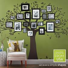 wall decal family tree decal photo frame tree decal black