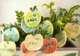 Vegetable Garden Labels by 12 Herb Markers Garden Plant Markers Gift For Gardeners Ceramic