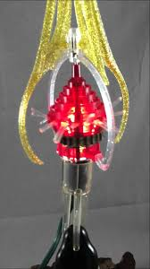 merry glow rotating tree topper light