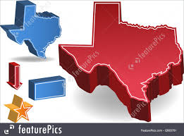 State Of Texas Map Illustration Of Texas Map