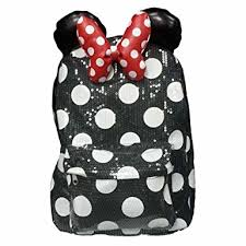 amazon disney parks minnie mouse sequin backpack size
