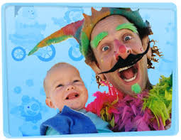 two cheerful clowns birthday children bright stock photo clown hire melbourne yabadoo