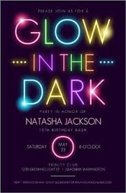 glow in the birthday party sweet 16 glow in the theme neon disco birthday party invitation