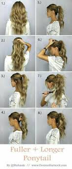 layer hair with ponytail at crown i hope this works one can only try then if needed try again