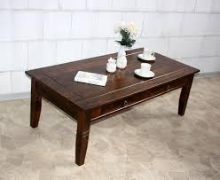 Wohnzimmertisch Ahorn Couchtisch Kolonial Wohnzimmertisch Schubladen 130 Cm Massiv Holz