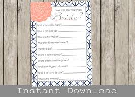 bridal shower games bridal quiz how well do you know the