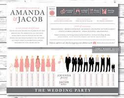 printed programs framed mirror wedding ceremony program modern white