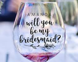 will you be my bridesmaid ideas be my bridesmaid etsy
