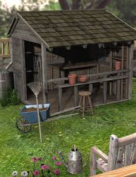 potting shed and tools 3d models and 3d software by daz 3d