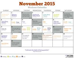 november 2015 workout calendar