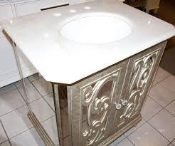 Mirrored Bathroom Vanity by Antiqued Mirrored Bathroom Vanity Ba948529