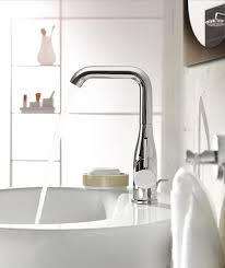 Grohe Single Hole Bathroom Faucet Faucet Com 23485en1 In Brushed Nickel By Grohe