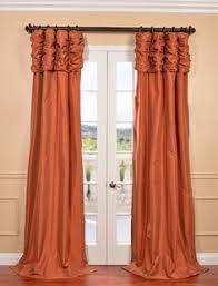 95 Long Curtains Dupioni Silk Pinch Pleat Curtain Panel 95