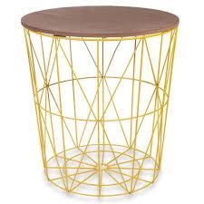 bout de canap maison du monde bout de canapé en métal jaune d 40 cm mobilier