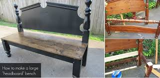Bench From Headboard How To Make A Pretty Headboard Bench Home Design Garden