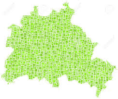Map Of Berlin Germany by Map Of Berlin State Germany In A Mosaic Of Green Squares