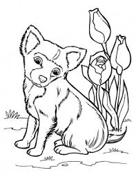 dog color pages printable puppy coloring pages free printable