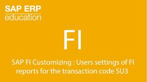 sap fi customizing user settings of fi reports transaction code