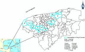 map of mexico yucatan region ring of cenotes yucatan mexico