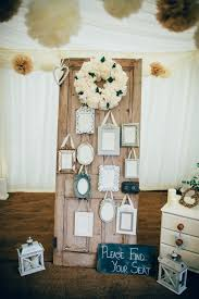 diy vintage shabby chic marquee reception at home