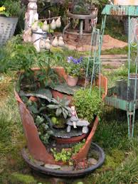 pot garden ideas 61 awesome exterior with these broken pots mini