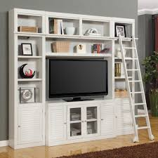 White Cottage Bookcase by Parker House Boca Space Saver Library Wall Entertainment Center
