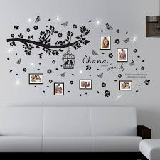wall stickers uk wall art stickers kitchen wall stickers ws8013sk crystal ohana family tree photo frames with swarovski crystals
