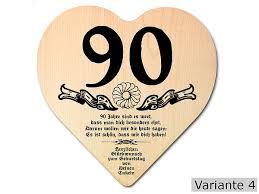90 geburtstag sprüche geschenk zum 90 geburtstag herz holzschild mit wunschtext