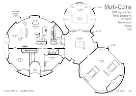 multi dome 7013sqft 3bd 2ba game room office spa house plans