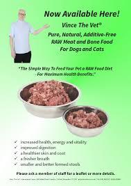 vince the vet natural dog food supplier directory