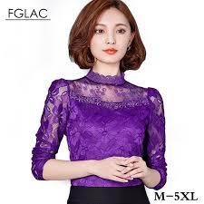 purple blouse plus size 5xl plus size clothing 2017 lace tops