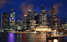 singapore skyline wallpaper desktop wallpapers pinterest