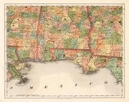 Hernando De Soto Route Map by Alabama Florida No 14 By Smith J Calvin 1855 1860 Mapas