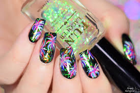 simply nailogical fireworks new years nails