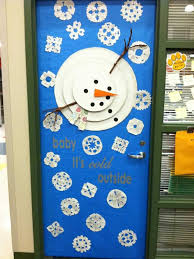 Christmas Office Door Decorations Christmas Office Door Decorating Ideas Snowman