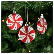 buy tesco candy striped baubles 6 pack from our all christmas