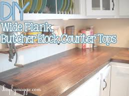 pin by laurie peace on kitchen ideas pinterest kitchens house diy wide plank butcher block counter tops on a budget step by step instructions