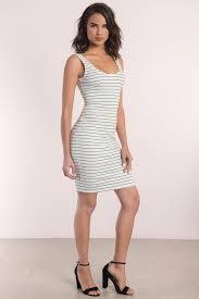 black and white dresses black and white dress ribbed dress midi stripe dress midi