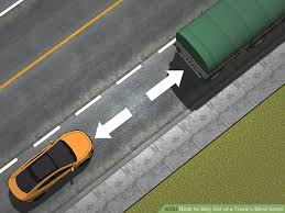 Driving Blind Spot Check How To Stay Out Of A Truck U0027s Blind Spots 11 Steps With Pictures