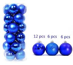 ornaments balls blue tree hanging baubles