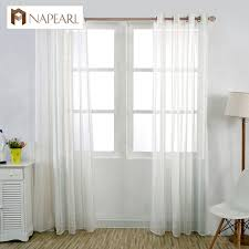 Tie Top White Curtains Sheer Voile Curtains Image Is Loading Blue Mosaic Crinkle Sheer